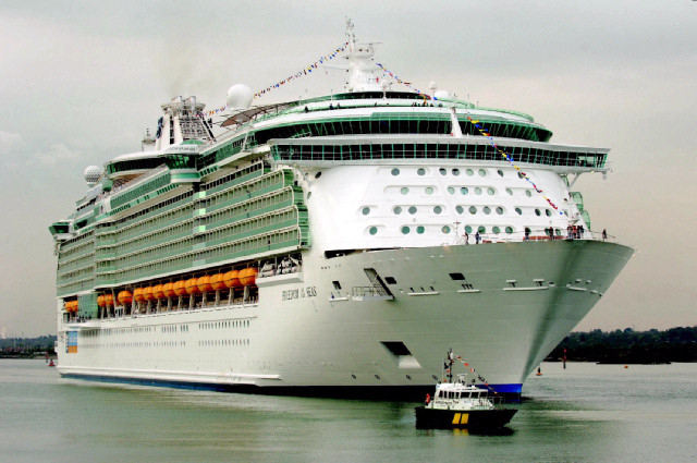 Largest cruise ship of different lines on the planet