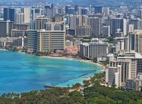 Hawaii, Waikiki Beach and Honolulu