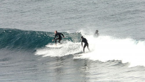 Bells beach surfers