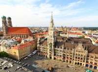 Munich city center marienplatz