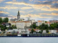 View of Belgrade city from Danube river